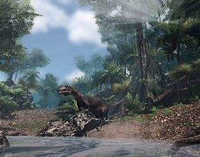Deinonychus Jurassic Dinosaur 3D model