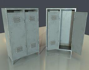 Painted Metal Locker 3D model