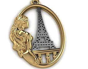 Girl in Paris 3D print model