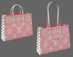 Louis Vuitton Onthego Giant Monogram Pink White Leather 3D