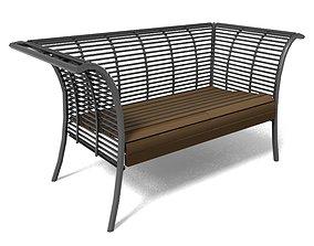bench high park toronto 3D model