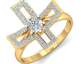 rings sterling Women ring 3dm stl render detail