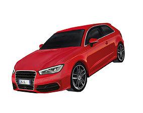 3D model German sports hatchback