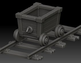 miner 3D model Stylized trolley