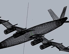 3D print model Waved Zigzag Wing Theoretical Heavy Cargo