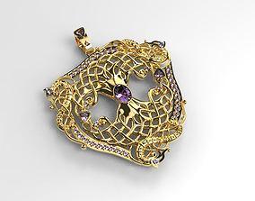 Pendant tree of life 3D print model jewellery