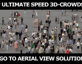3D PEOPLE CROWDS - TOTAL PACK - ULTIMATE SPEED game-ready