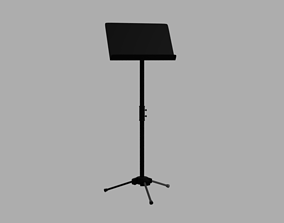 3D model VR / AR ready Music Stand