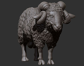 3D printable model mountain ram