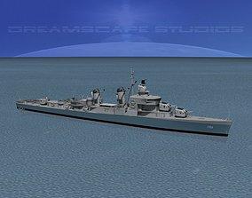 3D Sumner Class Destroyer DD-761 USS Buck