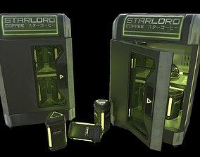 3D asset PBR Starlord Coffee