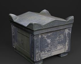 3D Scanned Tombstone - 02 low-poly realtime