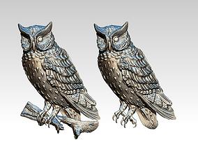 owl bird animal 3D print model