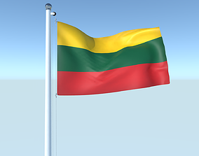 Animated Flag of Lithuania 3D model