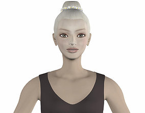 Eva ballet dancer 3D model game-ready