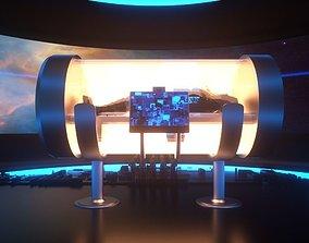 3D model Futuristic Hibernation Space Pod