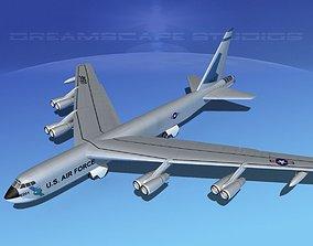 Boeing B-52C Stratofortress V07 3D model