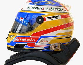 Fernando Alonso 2014 style Racing helmet 3D