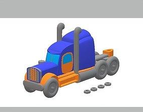 Semi Truck 3D printable model