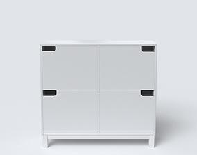 Shoe Cabinet Modern 3D asset