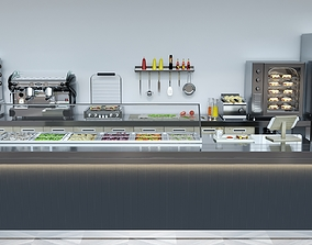 Coffee Shop 3D model set shop