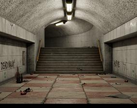 3D model Subway corridor