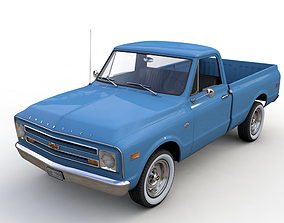 3D model CHEVY C10 PICKUP FLEETSIDE TRUCK 1968