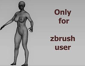 base women 3D asset