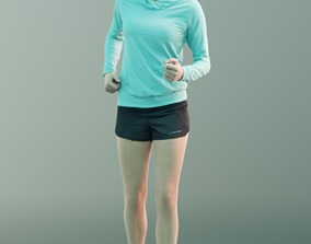 3D asset Ina 10060 - Sport Walking Girl