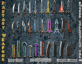 Medieval Fantasy Weapon Sword Collection Vol01 3D asset