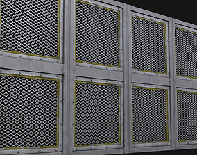 Modular Outdoor Steel Panels - PBR ready procedural 3D