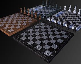 3D asset VR / AR ready Chess Set