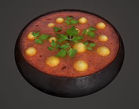 Medieval Tavern Soup 3D asset game-ready