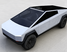 pick-up 3D model TESLA CYBERTRUCK 2019