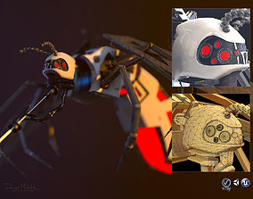 Cyber Mosquito Bug 3D asset