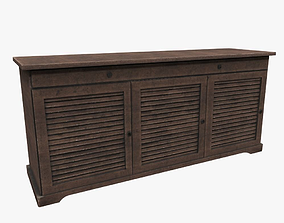 furnishings 3D asset low-poly Cabinet