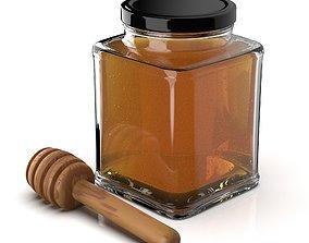 3D model Honey Jar With Stick
