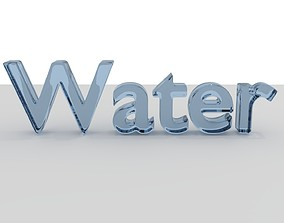 Liquid Water Text Animation 3D