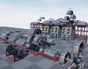 Nuclear power plant 3D asset
