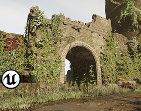 3D asset Castle Ruins Environment - PBR Medieval Props and