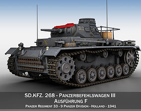 panzer-3 PzBefWg III - Ausf F - 9 PzDiv 3D