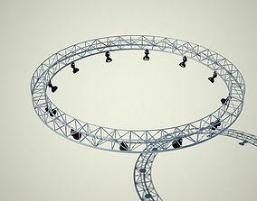 Metallic structure truss 02 3D model