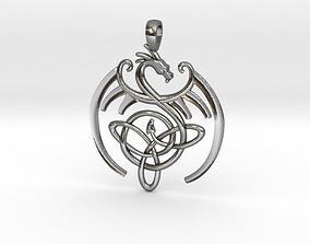 Dragon Celtic Knot Pendant 3D printable model