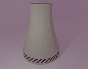Nuclear Reactor Cooling Tower 3D