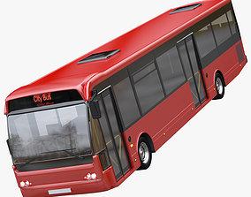 3D model travel City bus
