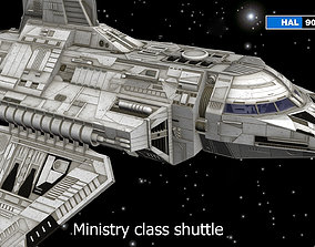 Ministry class shuttle wich interior 3D model