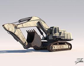 3D asset Excavator Liebherr 984