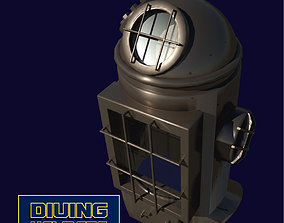 Antique Diving helmet-2 3D asset