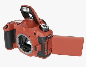 3D model DSLR camera body open orange