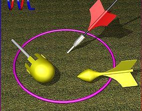 Lawn Dart Set 3D asset